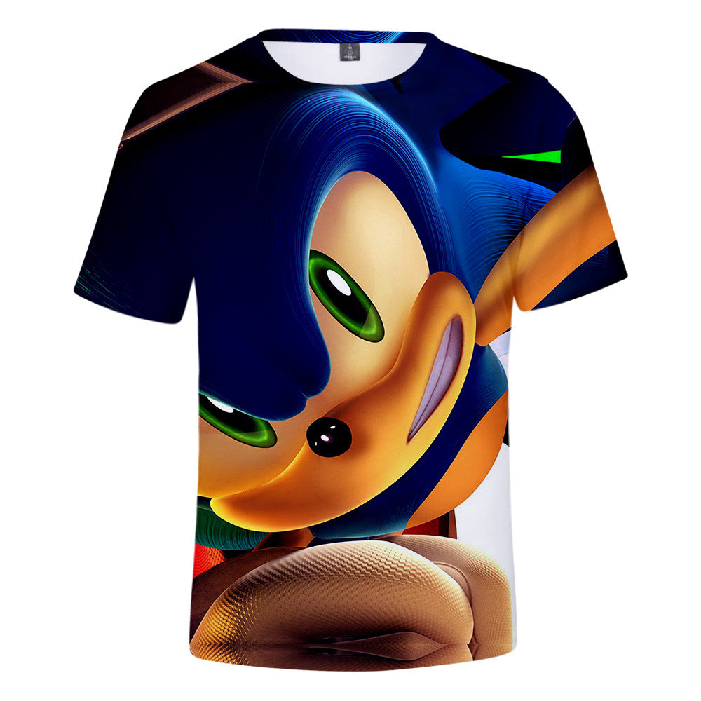 Sonic The Hedgehog 3D Full Printing Kids Short Sleeve Shirt