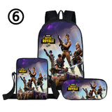 3PCS set Fortnite Backpack with lunch bag and pencil box