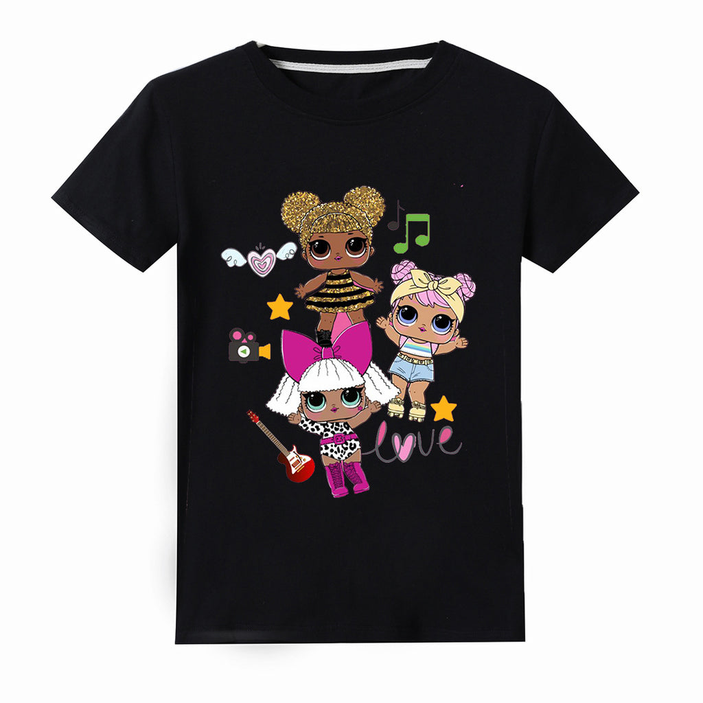 Lol Surprise Doll Printed Cotton  T-shirt for Girls Tees