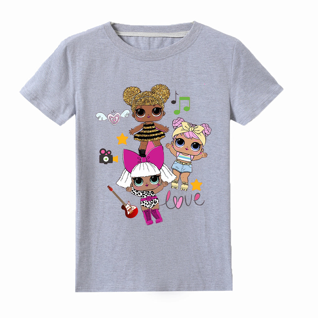 LOL Surprise! Girls' Singing Short Sleeve T-Shirt for kids