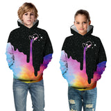 Kids Milk Bucket Galaxy 3D Hoodie Unisex hooded sweatshirt