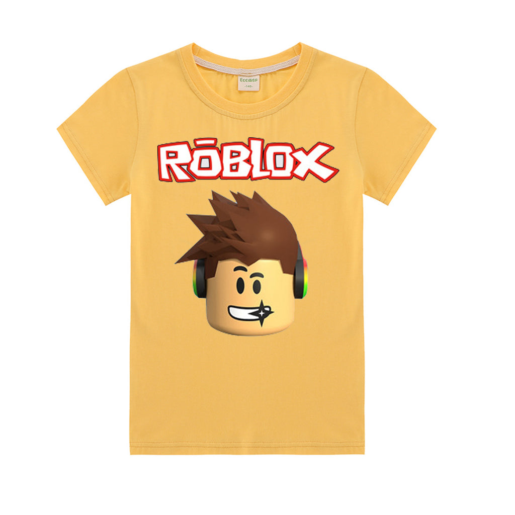 Roblox Shirt Bendy Game Roblox Icon Printed T Shirt Cotton Short Sleeve Tees For Kids
