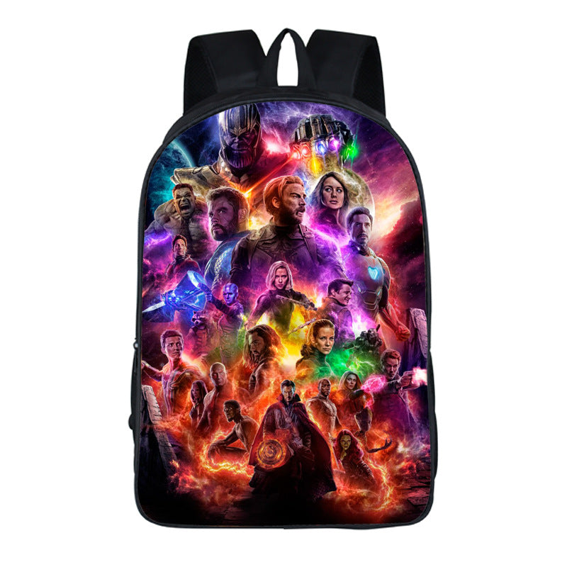 Avengers endgame 3D School bag Fashion backpack For Boys and Girls