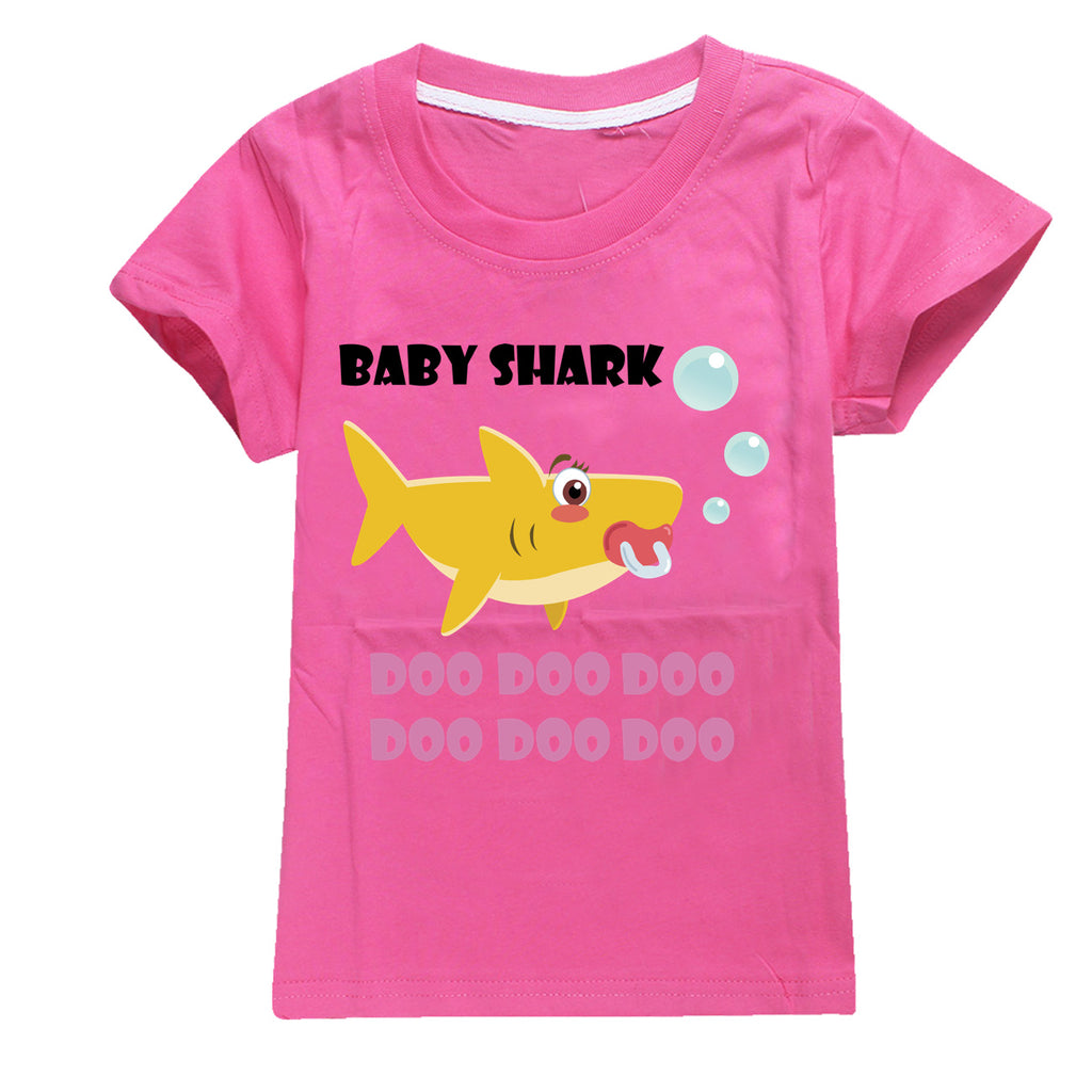 2019 New  Baby Shark cotton t-shirt for boys and girls