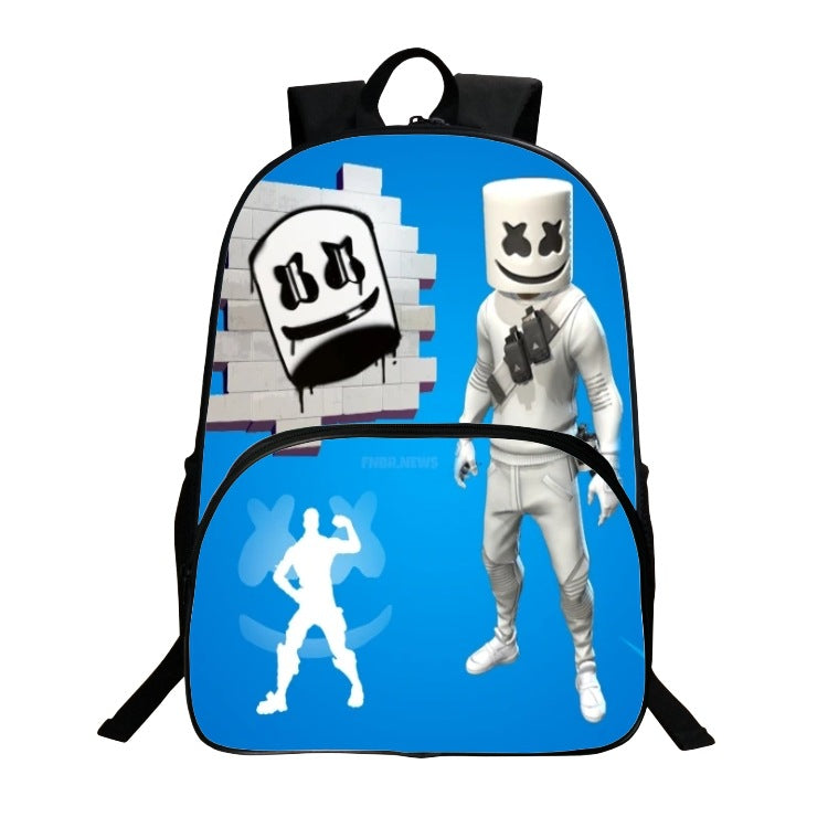 2019 Fashion New  Marshmello Backpack Digital printing Bookbag