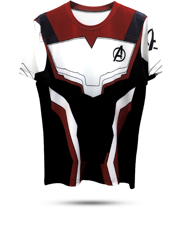 Fashion 3D Avengers Endgame Commemorate T-Shirt Superhero Quantum Realm Tees Cosplay Costumes for Men/Women