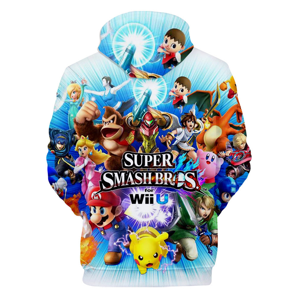 Fashion Super Smash Bros 3D Hoodie