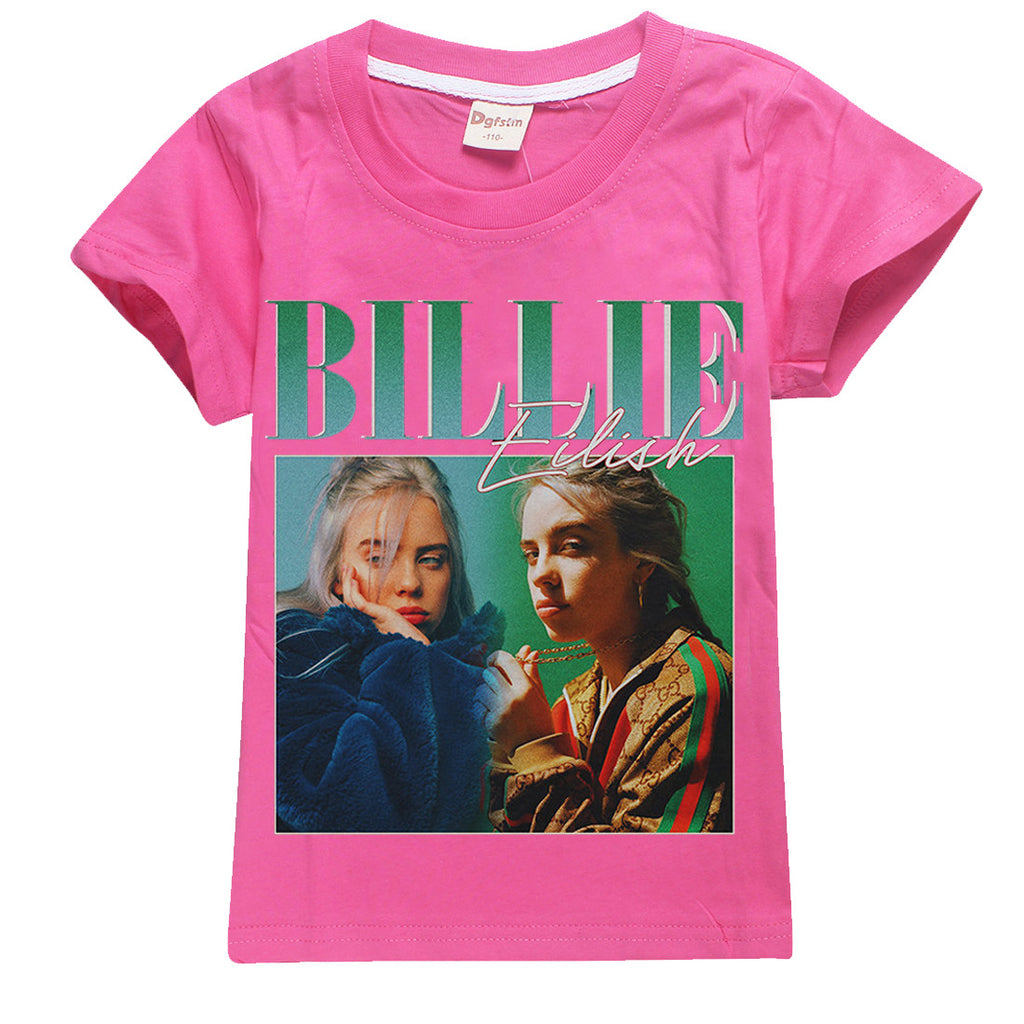 Kids t-shirt Billie Eilish print girls cotton tshirt