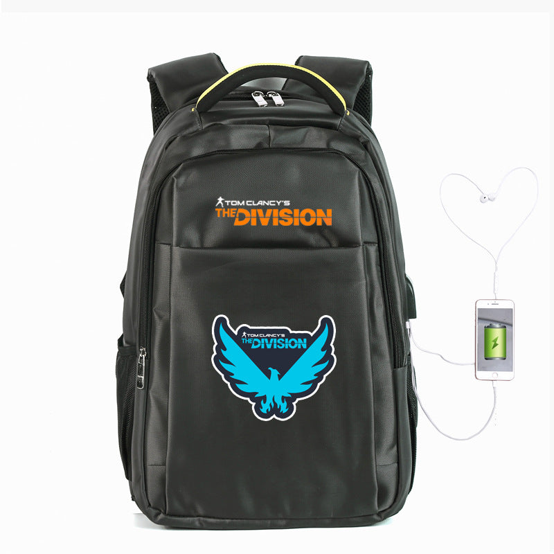"Tom Clancy's The Division 2 Nylon Backpack 21"" Book Bag"