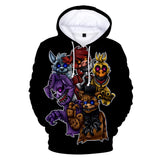 Five Nights at Freddy Kids 3D Hoodie
