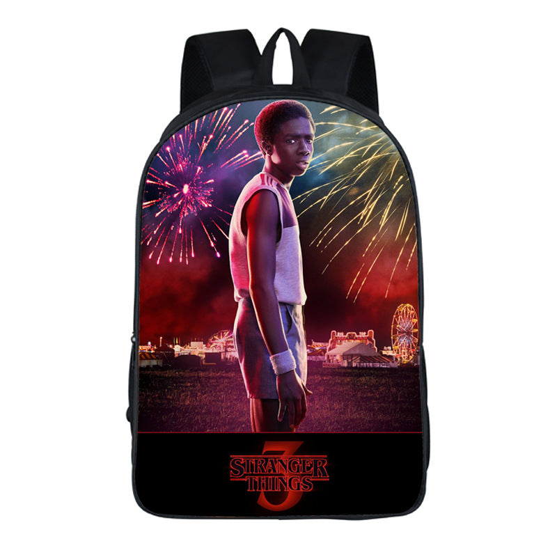 Fashion Stranger Things 3 backpack teenagers book bag