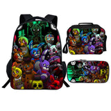 Kids Five Nights At Freddy's Backpack  with Lunch Box and Pencil Case