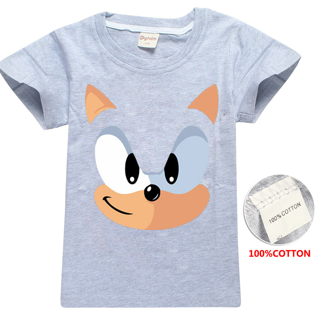 Kids Sonic the Hedgehog Classic Sonic cute  cotton t-shirt