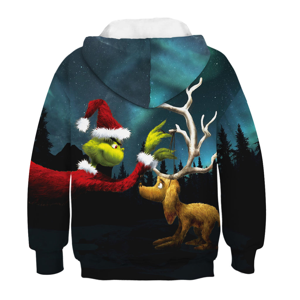 Kids The Grinch and His Loyal Dog Christmas Hoodie