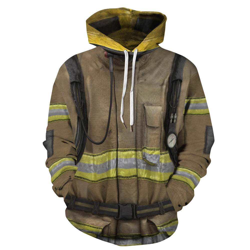 "Fanshion "" Fire-fighting Coat "" 3d Printing Hoodie Cosplay Costume"