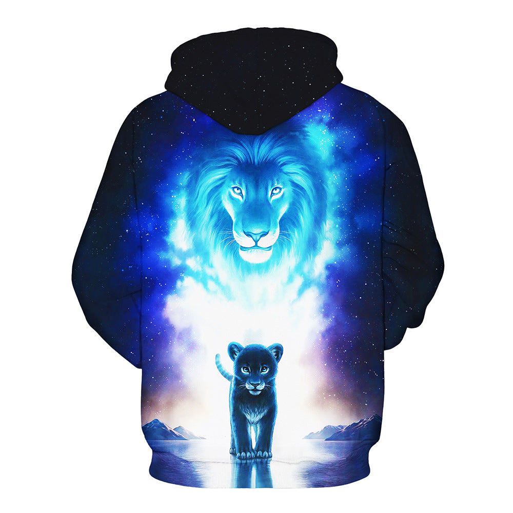 New Aurora Polaris Lion 3D Hoodie Unisex Sweatshirt