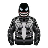 Kids Venom zip up hoodie Unisex Jacket Cosplay costume