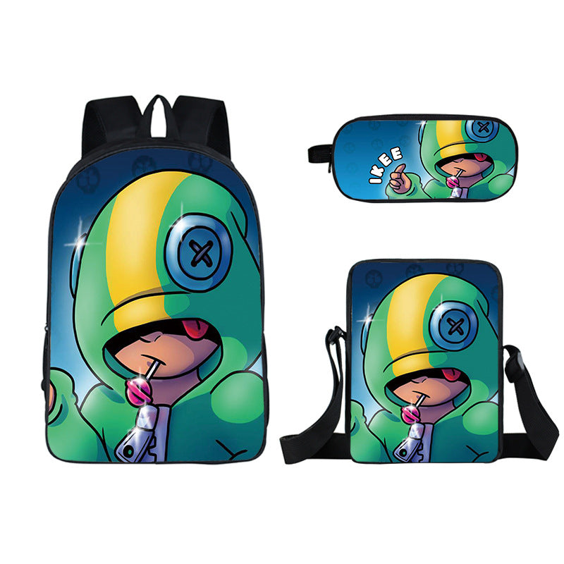 Brawl stars Leno backpack with lunch bag and pencil case