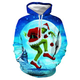 Fashion The Grinch characters 3D printing Hoodie