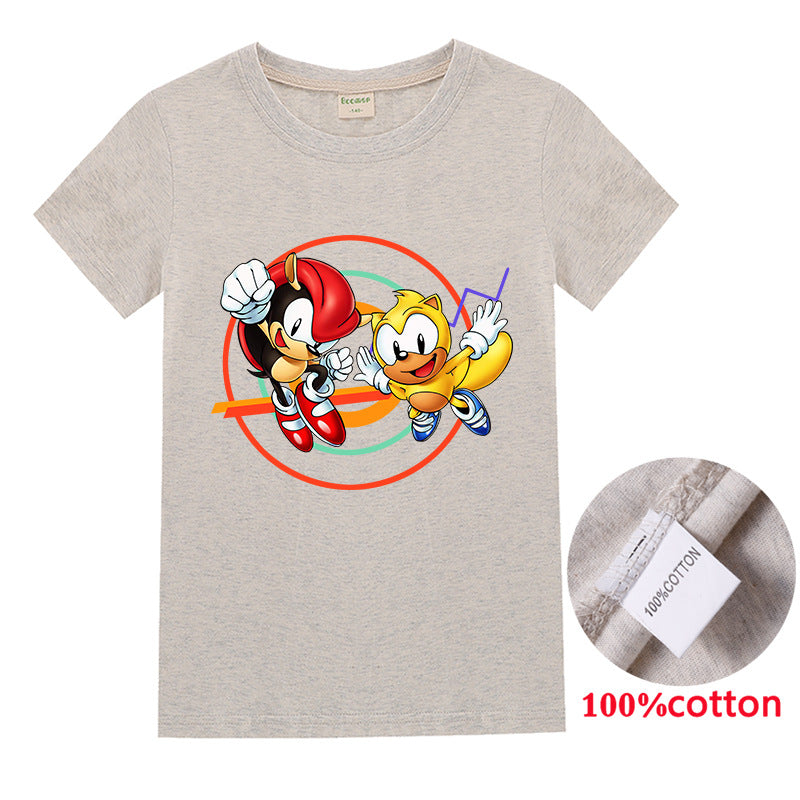 Sonic mania  Kids Ray the Flying Squirrel and Mighty the Armadillo t-shirt