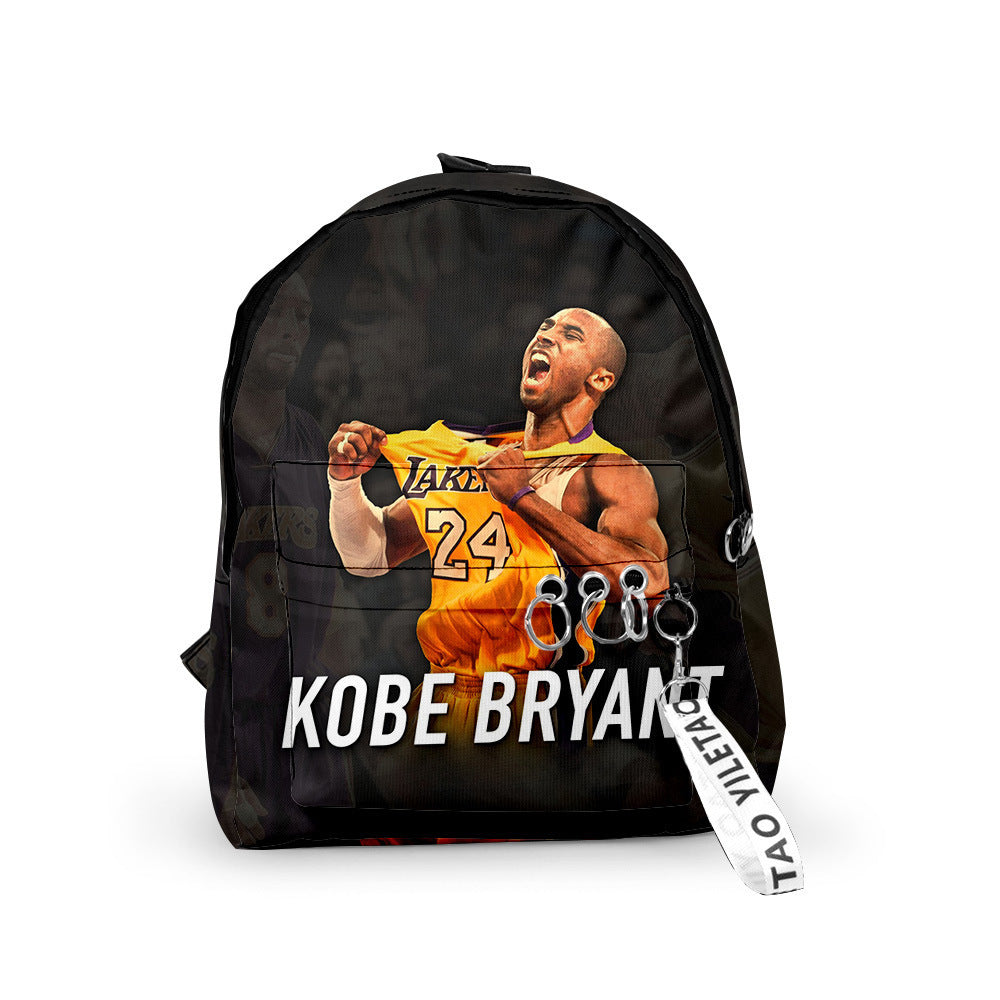 Fashion Kobe Bryant 3D Color-full Printed Backpack