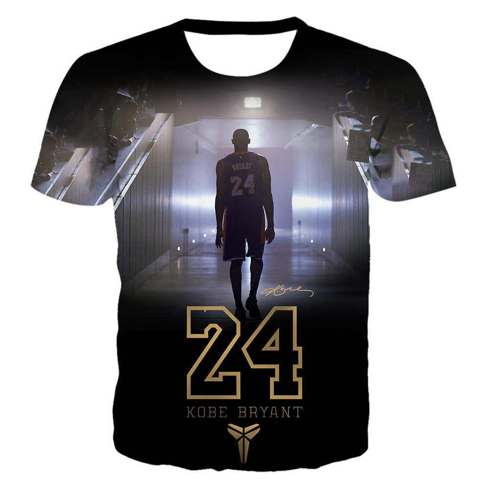 Kobe Bryant A Basketball Legend 3D Printed T-shirt
