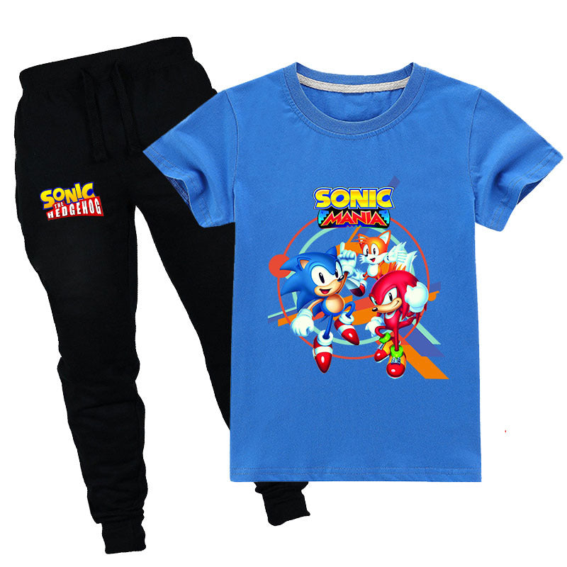 Kids Set Sonic and Tails and Knuckles The Echidna T-shirt with Pants