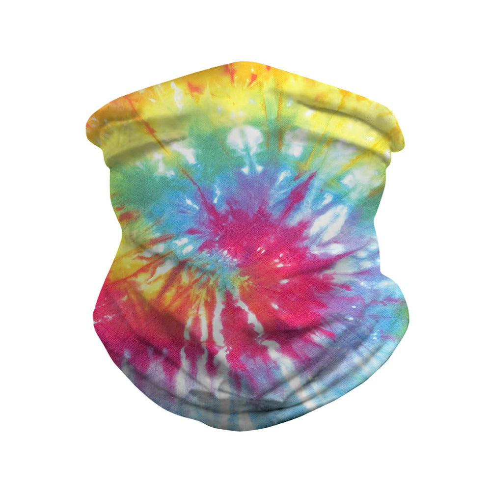 Tie-dye Breathable Face Bandana Magic Scarf Headwrap Balaclava