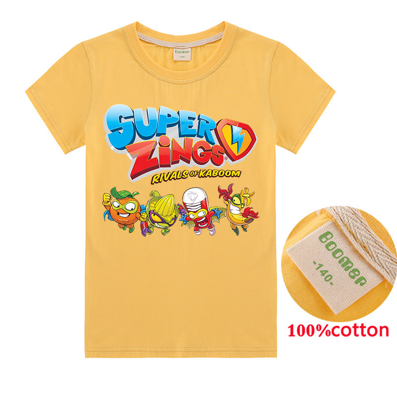Kids Super zings cotton t-shirt