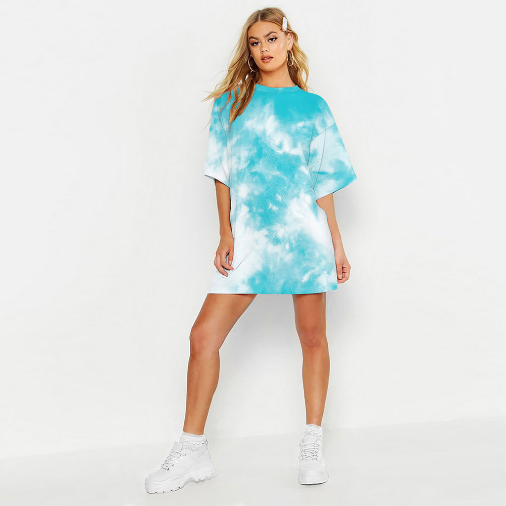 Women's Tie-dye Oversized T-shirt Dress