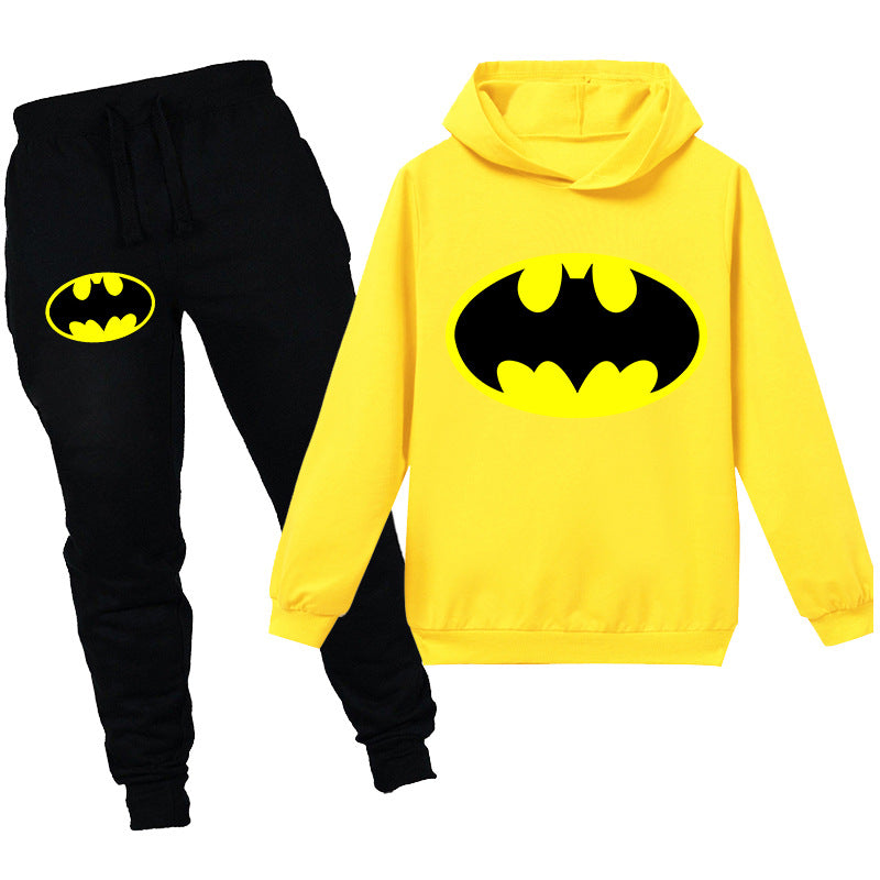 Kids Batman Logo Hooded Shirt and Pants
