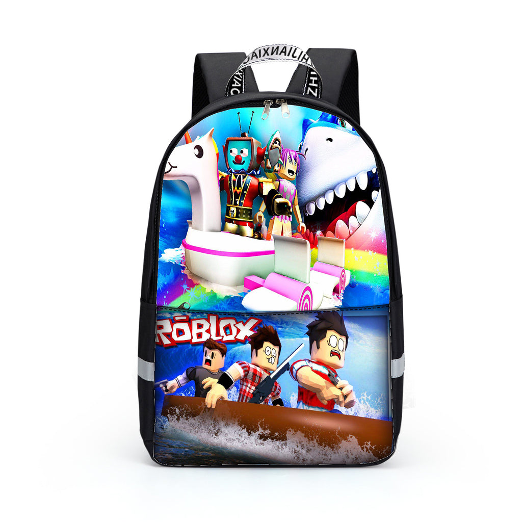 New Roblox characters printed backpack for teens boys girls