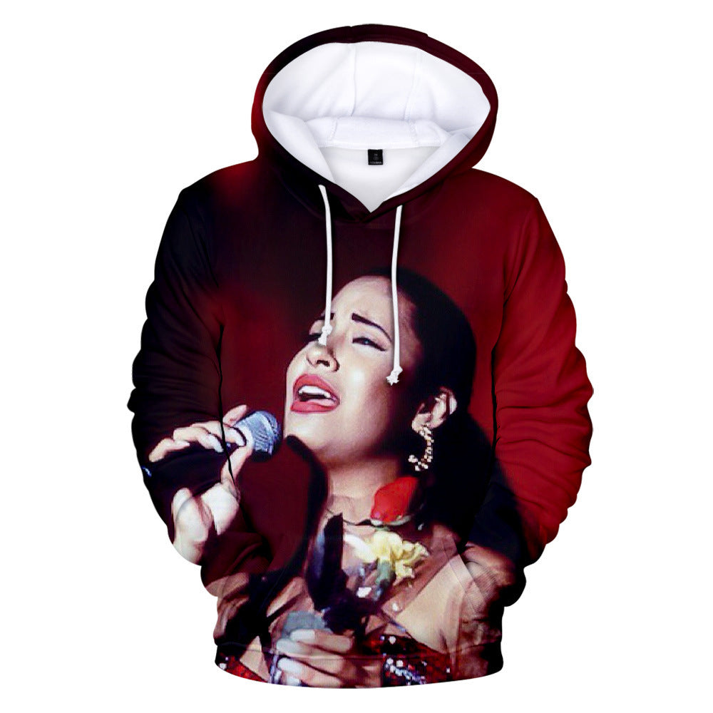 Fashion Selena Quintanilla 3D Hoodie Hooded Sweatshirt