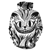 Fashion The Cheshire Cat 3D Hoodie  Halloween costume for Men and Women
