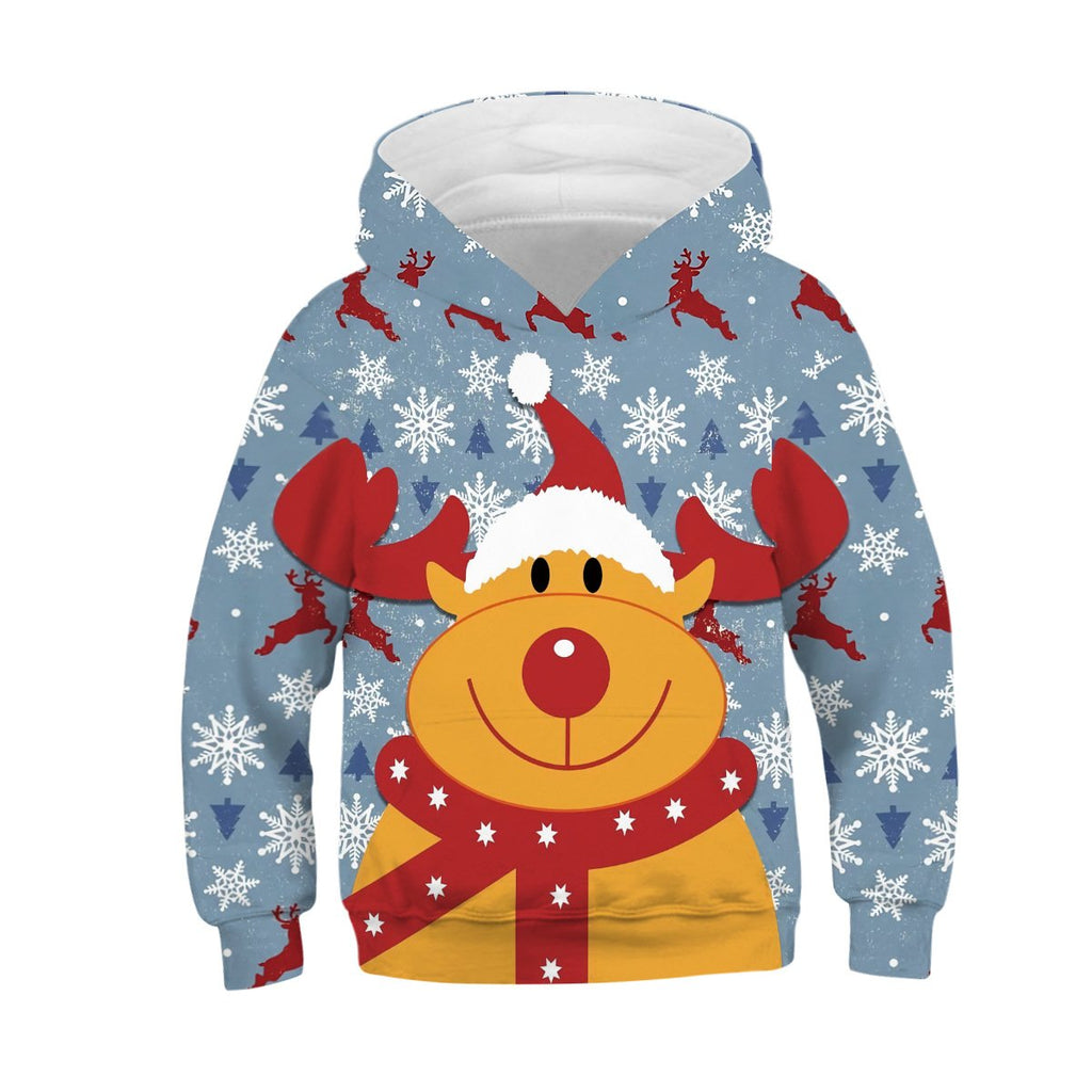 Kids Rudolph the Red-Nosed Reindeer Hoodie Unisex Sweatshirt