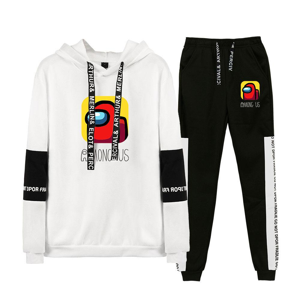 Men Women Among Us Streetwear Hoodie and Pants 2pcs