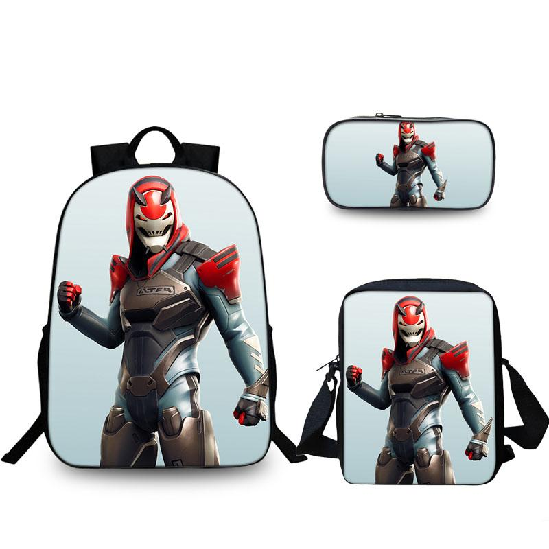Fortnite Vendetta Tier 2019 Season 9 3D Boys Girls Oxford Backpack lunch Bag And Pencil Case