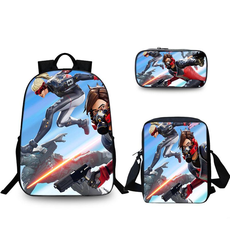 2019 New Fortnite Ether And Versa 3D 16 Inch School Backpack lunch Bag And Pencil Case Bundle 3 In 1