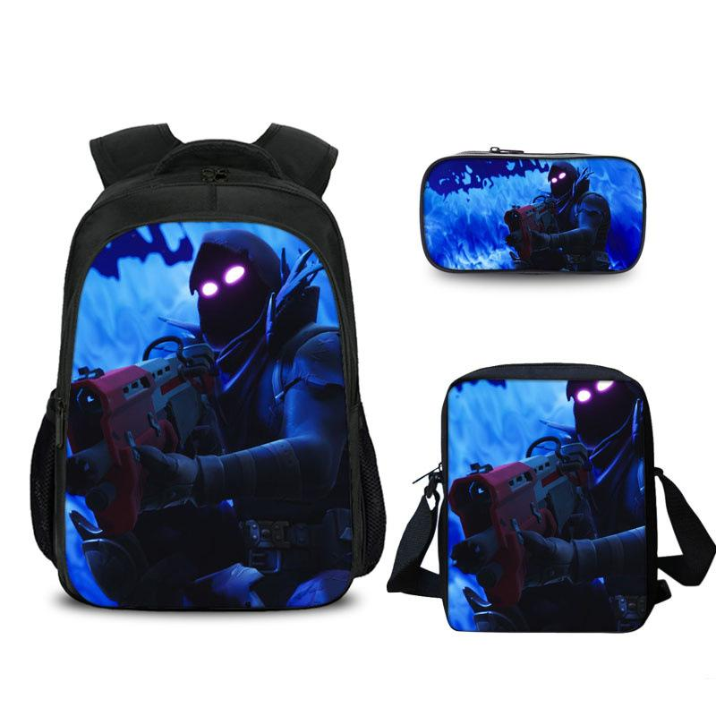 2019 Raven Fortnite 16 Inch Backpack Lunch Bag And Pencil Case Bundle 3 In 1