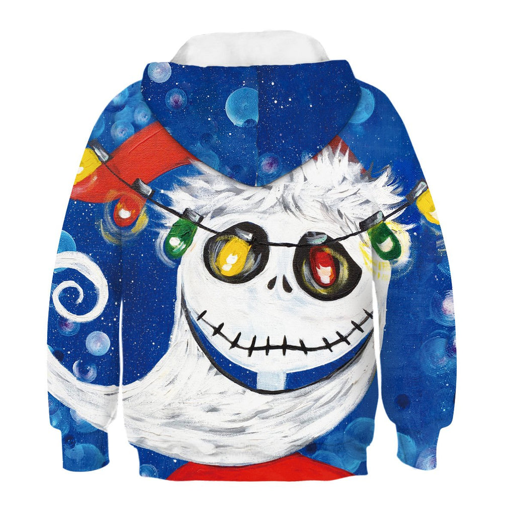 Kids Jack Skellington Sandy Claws Hoodie
