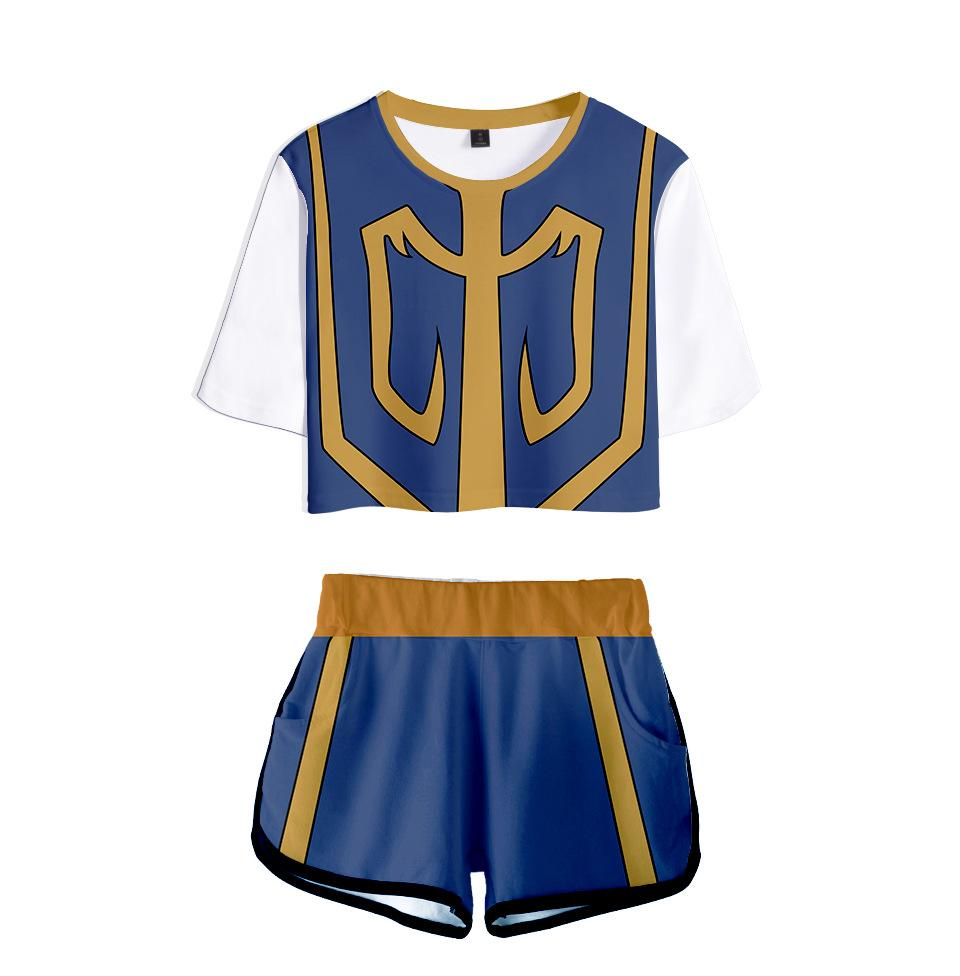Casual Stylish HUNTER X HUNTER  Midriff-baring Tees Shorts Running Tops Girls Sport Shorts