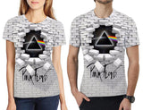 Pink Floyd 3d printing t-shirt Short Sleeve Tees for Mens Womens