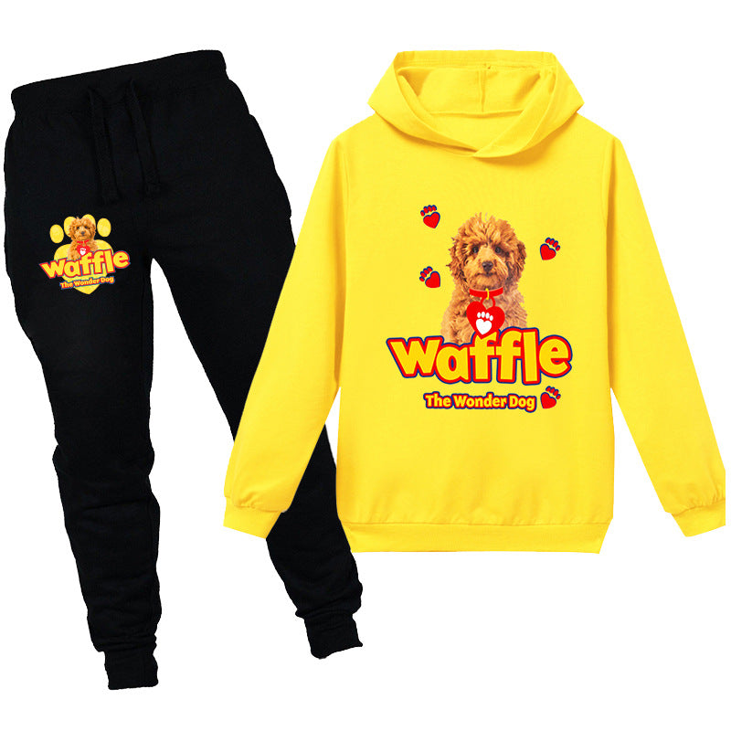 Kids Waffle The Wonder Dog  Casual Hoodie Tracksuit Sportwear