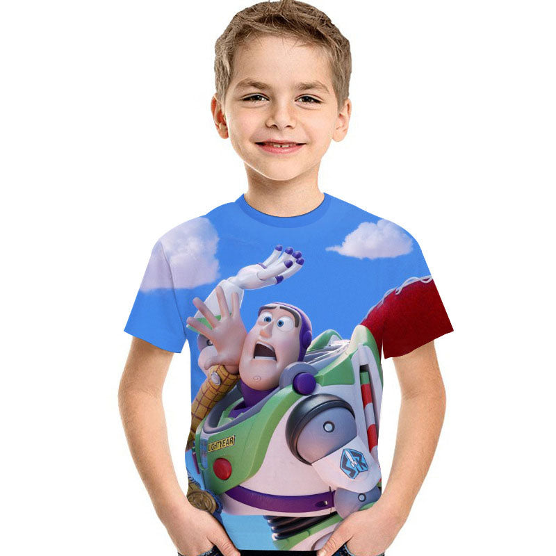 Kids Toy Stroy 4 Buzz Lightyear 3d  Unisex t-shirt