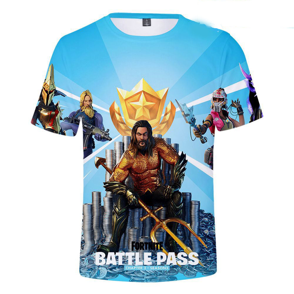 Mens fortnite season 3 chapter 2  battle pass 3d t-shirt