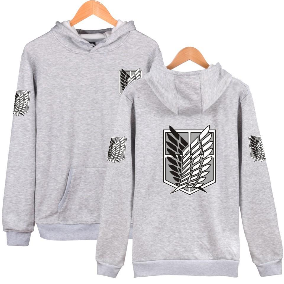 Men's women's Attack on Titan Recon Corps  Pullover Hoodie