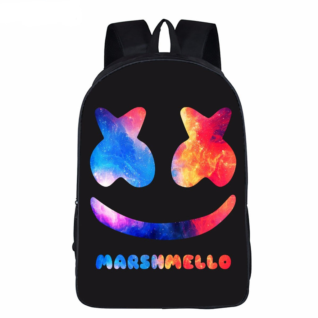 Fashion 3D printing marshmello backpack