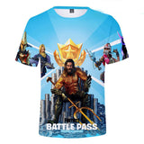 Kids fortnite season 3 chapter 2 battle pass 3d t-shirt