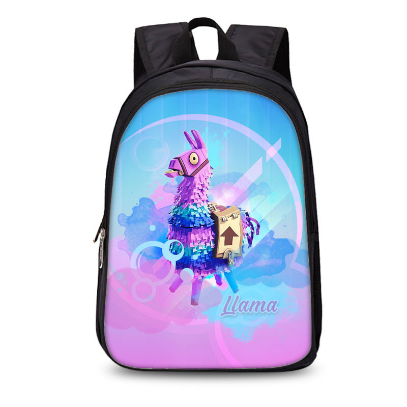 Fortnite Llamas backpack Waterproof School Bag