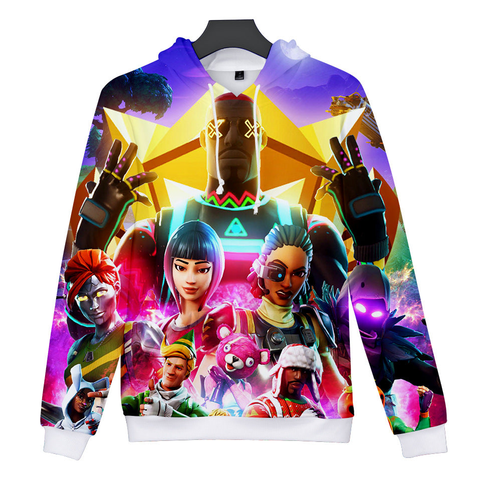 Fortnite Lite Show 3d Printing Hoodie Hot Game 3D Pullover Sweatshirt